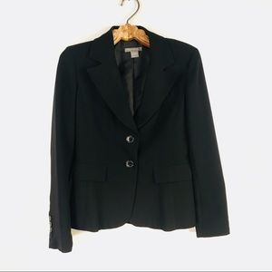 Ann Taylor Black Blazer 2 button Fully Lined Sz 2